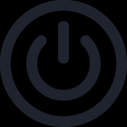 control, media, on, power, sign, symbol icon