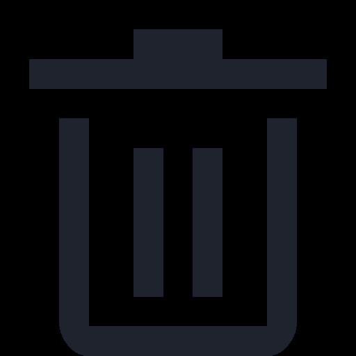 bin, delete, dust, erace, garbage, recycle, trash icon