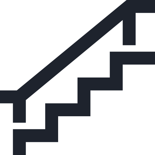 down, public, sign, stairs, up, upstairs, walk icon