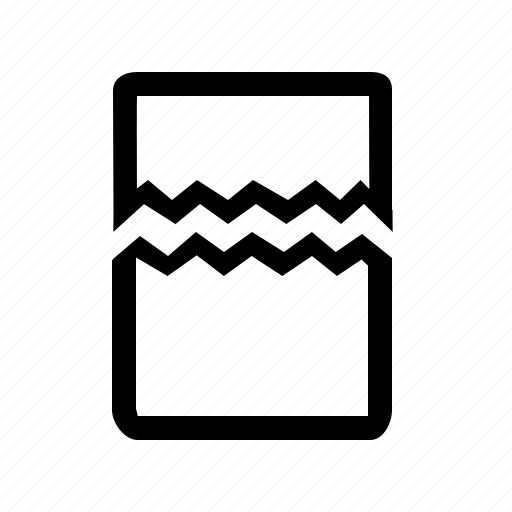 broken, card, corrupted, distort, document, fail, file, problem icon