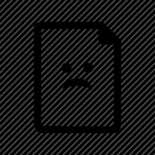 broken, corrupted, distort, document, error, fail, file, problem icon