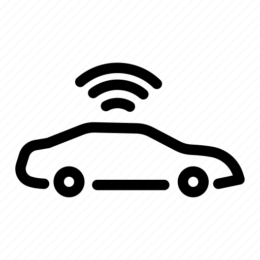 Smart car outline vector 14