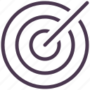 aim, arrow, bullseye, center shoot, target icon