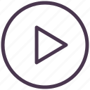 arrow, audio, control, music, play, player, sound icon