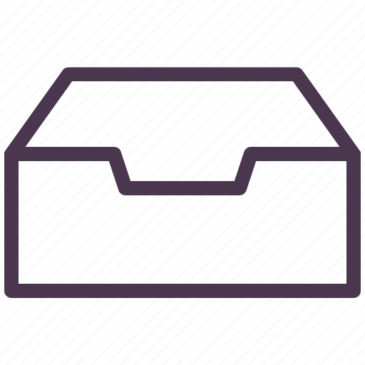 archieve, archive, box, catalog, documents, drawer, files folders icon