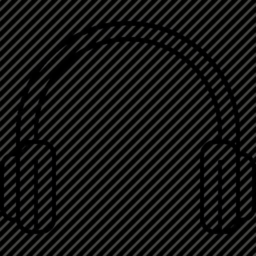 audio, headphones, headset, multimedia, music, sound icon