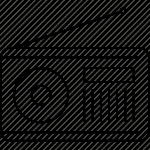 audio, multimedia, music, radio, sound icon