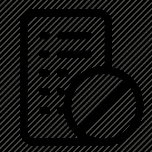 block, block list, failed, list icon