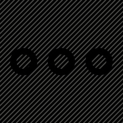 dot, more icon