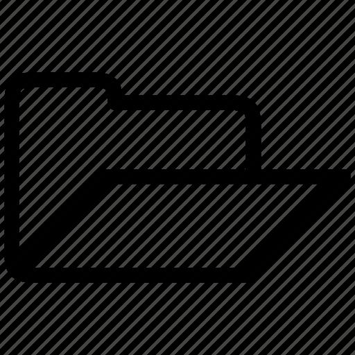 folder, open, storage icon