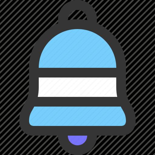 alarm, bell, ring, winter icon