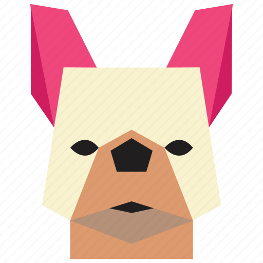 animal, cartoon, dog, dog face, french bulldog, french bulldog face icon