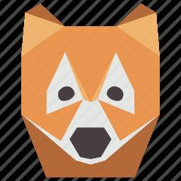 animal, animal face, cartoon, fox, fox face, wild icon