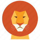 animal, cartoon, king, leo, leon, leon face, wild icon