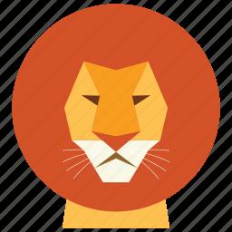 animal, cartoon, king, leo, leon, leon face, wild icon