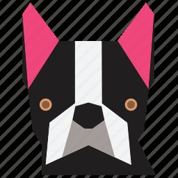 animal, animal face, bulldog, cartoon, dog, dog face, terrier icon