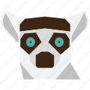 animal, animal face, cartoon, forest, lemur, lemur face, wild icon