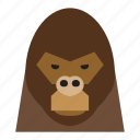 animal, animal face, gorilla, gorilla face, monkey, monkey face, thief icon