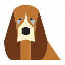 animal, animal face, basset hound, basset hound face, cartoon, dog icon