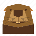 animal, animal face, beaver, beaver face, cartoon, nature, wild icon