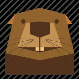 animal, animal face, beaver, beaver face, cartoon, nature, wild icon