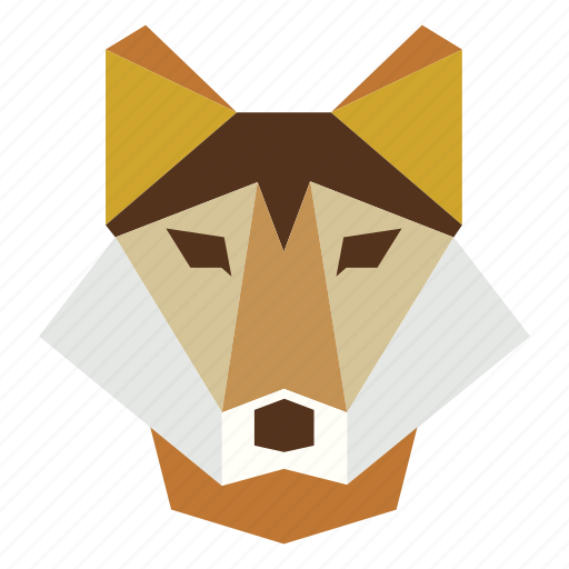 animal, cartoon, gray wolf, gray wolf face, wild, wolf, wolf face icon