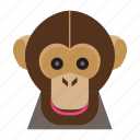 animal, animal face, cartoon, monkey, monkey face icon