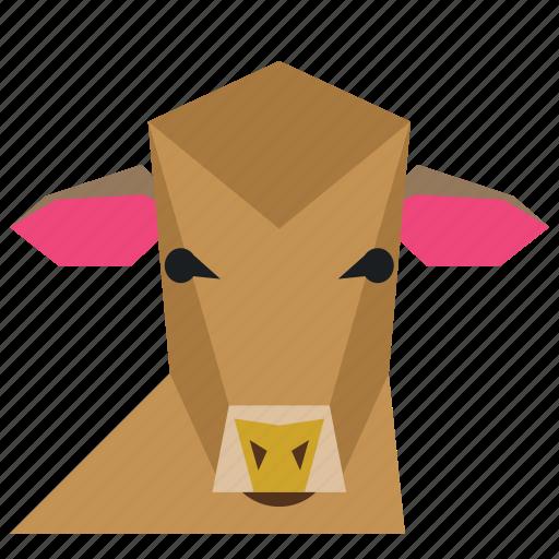agriculture, animal, animal face, cartoon, cow, cow face, milk icon