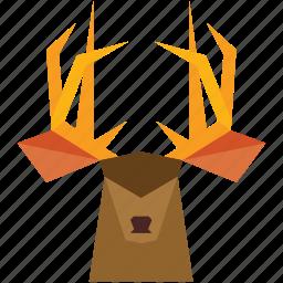 animal, animal face, cartoon, deer, deer face, forest icon
