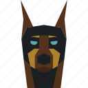 animal, animal face, doberman, doberman face, wild icon