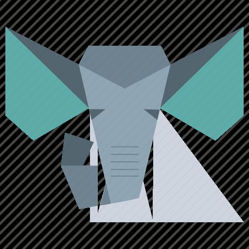 animal, animal face, cartoon, elephant, elephant face, zoo icon