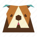 animal, animal face, bulldog, bulldog face, cartoon, dog icon