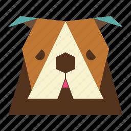 animal, animal face, bulldog, bulldog face, cartoon, dog icon