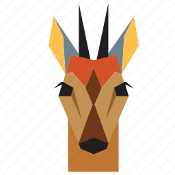 animal, animal face, cartoon, deer, deer face, forest, wild icon
