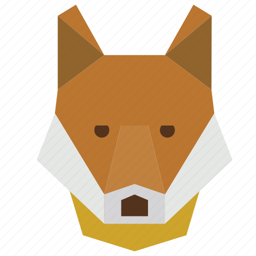 animal, animal face, cartoon, fox, fox face, fox head icon