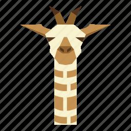 animal, animal face, cartoon, graffe, graffe face icon