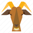 animal, animal face, goat, goat face, ram animal, ram face icon