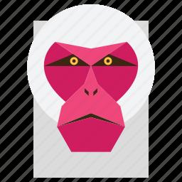 animal, cartoon, gorilla, gorilla face, macaque, monkey, monkey face icon