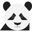 bear, bear face, panda, panda face icon
