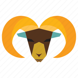 animal, cartoon, goat, ram animal, ram face icon