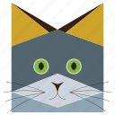 animal, animals face, cartoon, cartoons, cat, cats face, russian cat icon