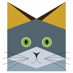 animal, animals face, cartoon, cartoons, cat, cats face, russian cat icon