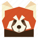 animal, animal face, cartoon, cartoon face, panda, red panda, red panda face icon