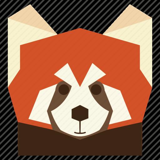 animal, animal face, cartoon, cartoon face, panda, red panda, red panda face icon
