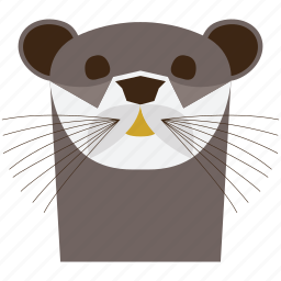 animal, animal face, cartoon, harbor, otter, otter face, sea lion icon