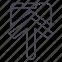 arrow, save, basic, interface, ui
