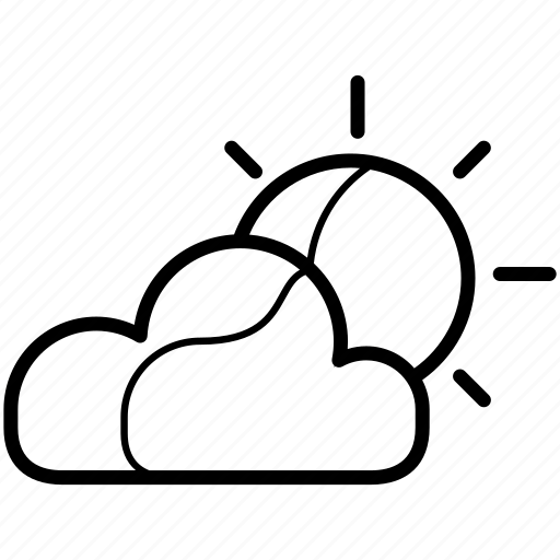 cloud, cloudly, meteo, partly, sun, weather icon