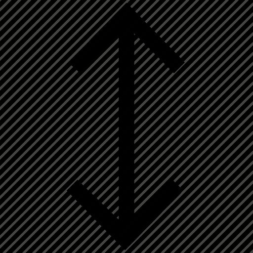 arrow, arrows, down, up, vertical icon