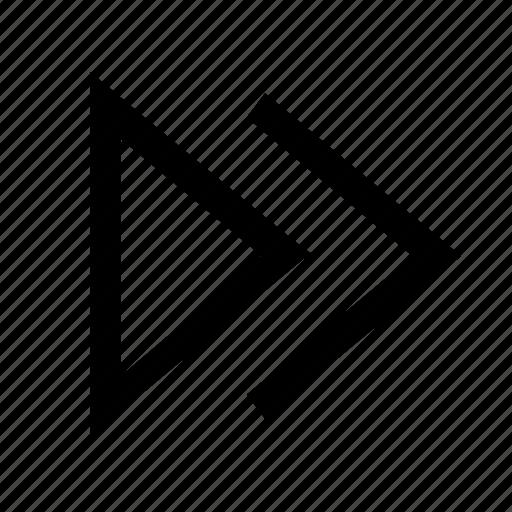 control, derection, forward, next icon