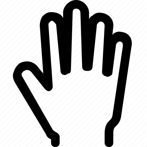 finger, fingers, gesture, hand, open, swipe, touch icon